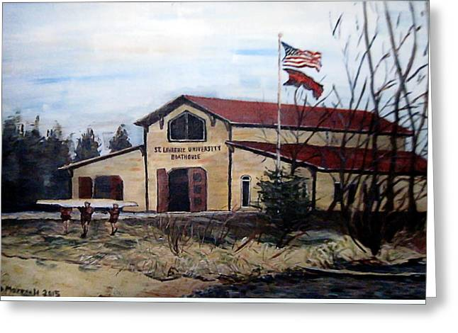 St. Lawrence Boathouse Greeting Card
