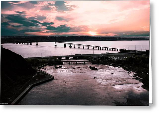 St. Lawrence Sunset Greeting Card