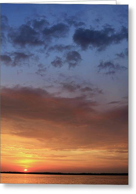 St. Lawrence Sunset I Greeting Card by Lori Deiter