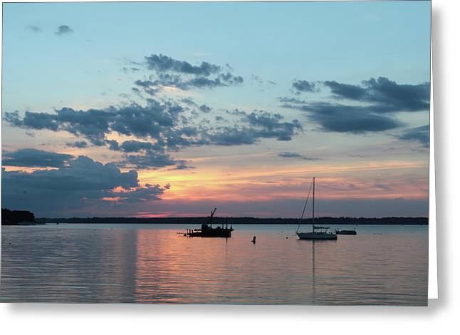St. Lawrence Sunset II Greeting Card by Lori Deiter