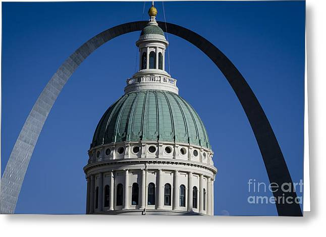St. Louis Arch Greeting Card by Andrea Silies