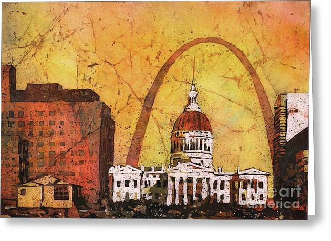 St. Louis Archway Greeting Card by Ryan Fox
