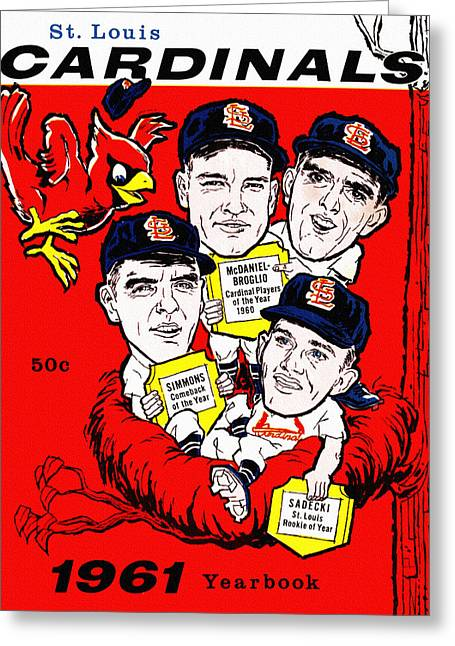 St. Louis Cardinals 1961 Yearbook Greeting Card