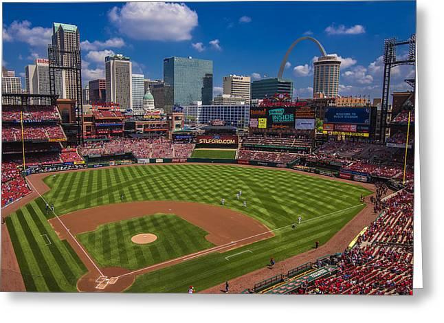 St. Louis Cardinals Busch Stadium Creative 16 Greeting Card by David Haskett