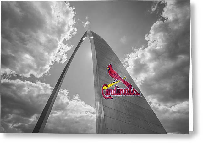 St. Louis Cardinals Busch Stadium Gateway Arch 1 Greeting Card