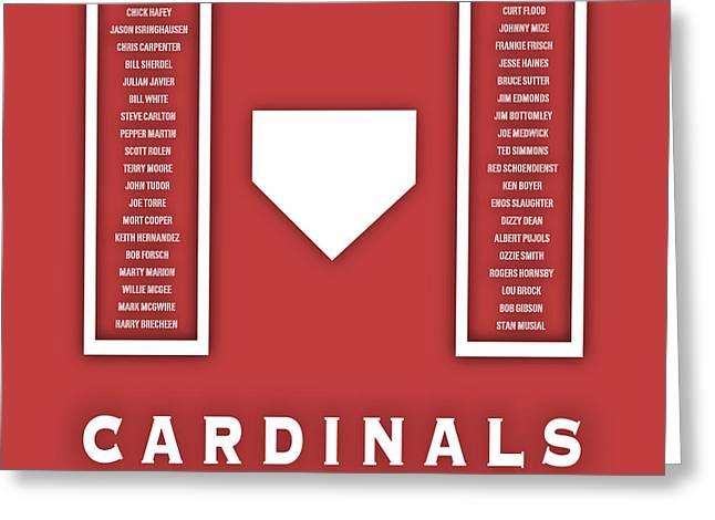 St. Louis Cardinals Art - Mlb Baseball Wall Print Greeting Card by Damon Gray