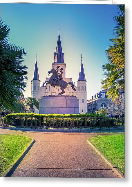 St Louis Cathedral Church, New Orleans Greeting Card