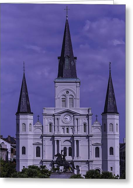 St. Louis Cathedral Greeting Card by Garry Gay