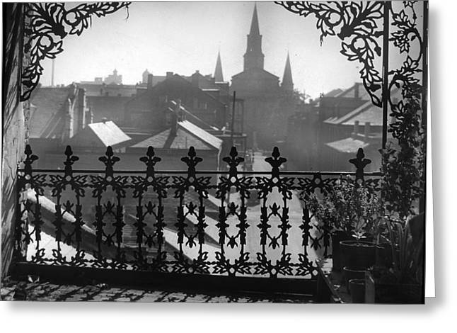 St Louis Cathedral In Frame Greeting Card