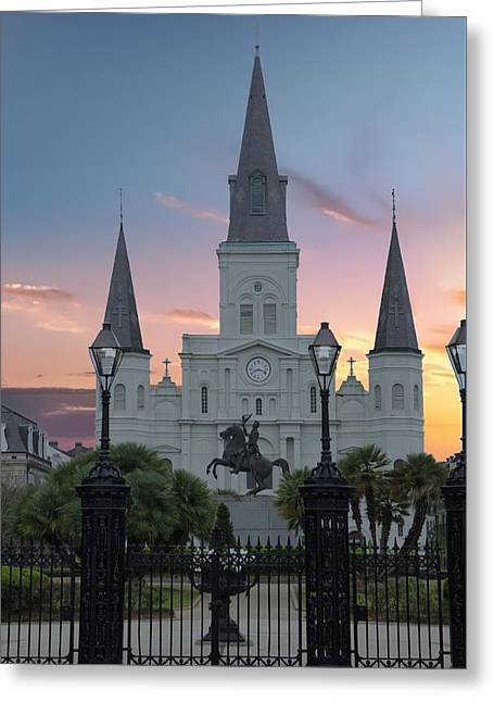 St Louis Cathedral, New Orleans Greeting Card by Art Spectrum