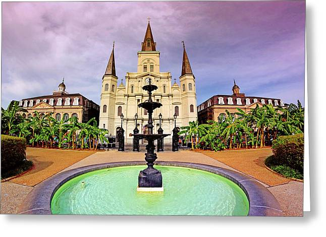 Greeting Card featuring the photograph St. Louis Cathedral - New Orleans - Louisiana by Jason Politte