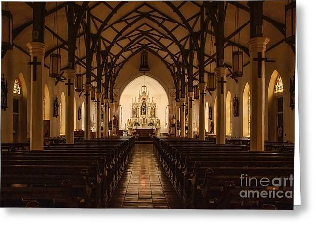 St. Louis Catholic Church Of Castroville Texas Greeting Card