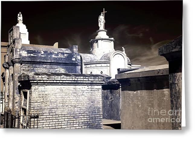 St. Louis Cemetery No. 1 Infrared Greeting Card