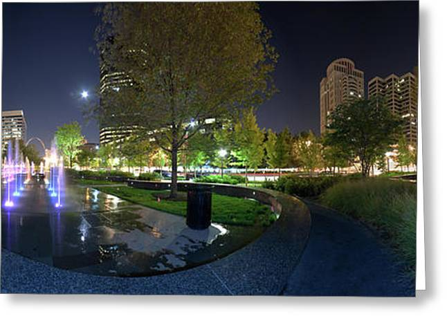 St. Louis City Garden Panorama Greeting Card