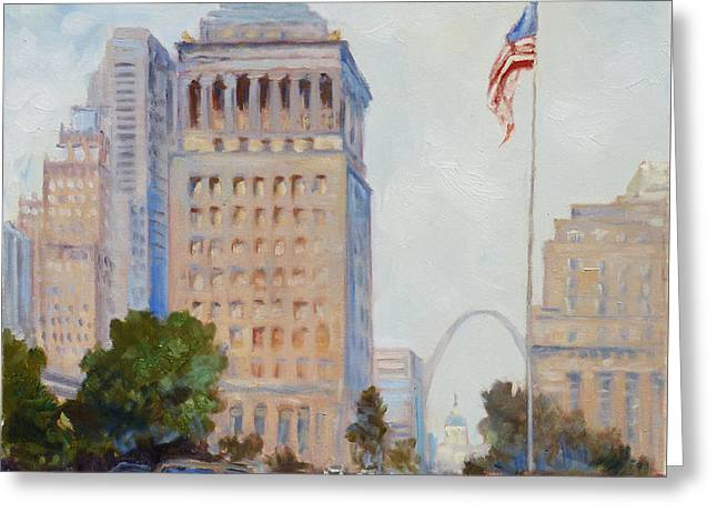 St. Louis Civil Court Building And Market Street Greeting Card