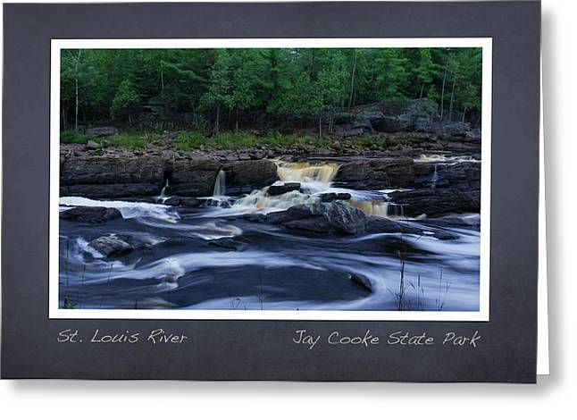 Greeting Card featuring the photograph St Louis River Scrapbook Page 1 by Heidi Hermes