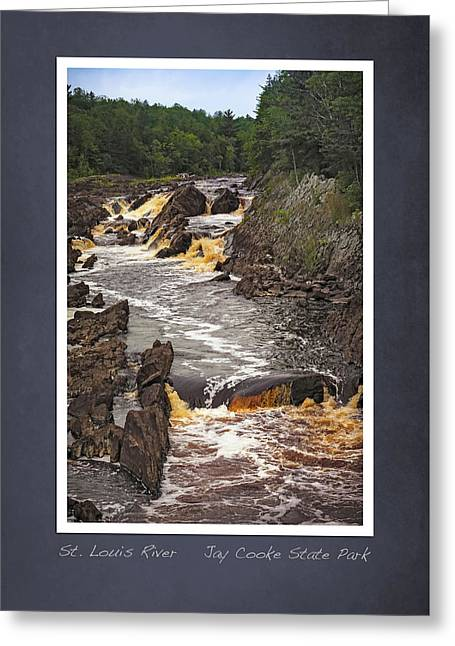 Greeting Card featuring the photograph St Louis River Scrapbook Page 3 by Heidi Hermes