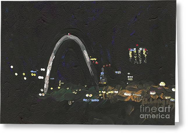 St. Louis Riverfront 1 Greeting Card by Helena M Langley