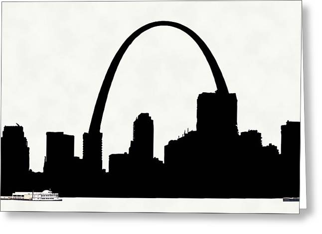 St Louis Silhouette With Boats 2 Greeting Card