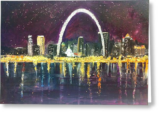 St. Louis Skyline Greeting Card by Made by Marley