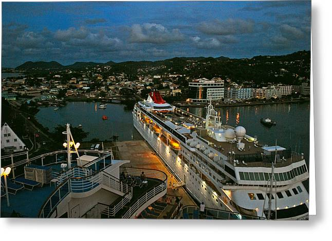 St. Lucia In The Evening Greeting Card