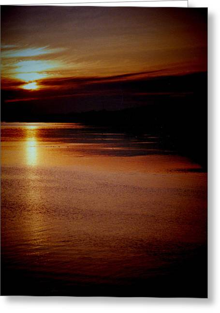 St Lucia Sunset Greeting Card by Russ Mullen
