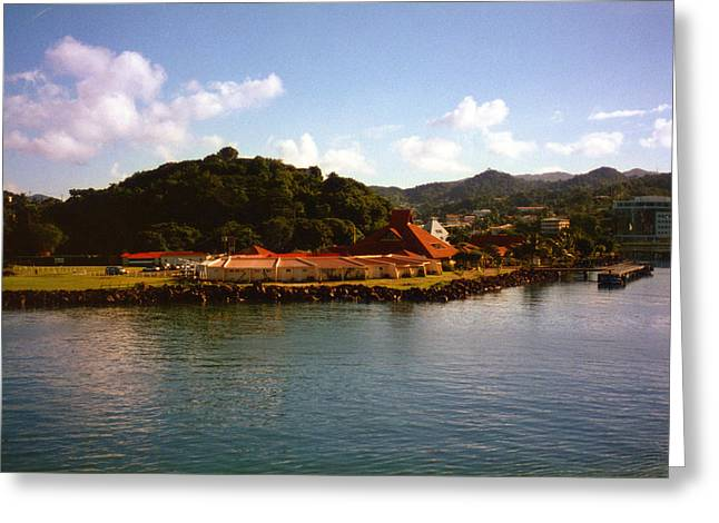 St Lucia Welcome Center Greeting Card by Russ Mullen