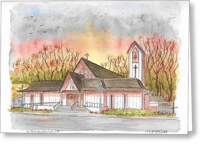 St. Malachy Church, Tehachapi, California Greeting Card