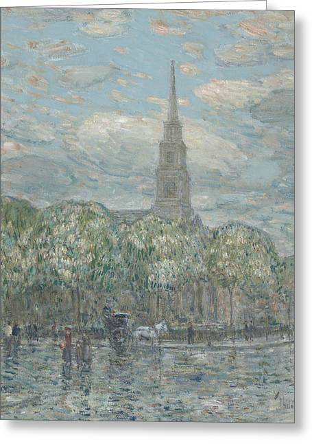 St Marks In The Bowery Greeting Card by Childe Hassam