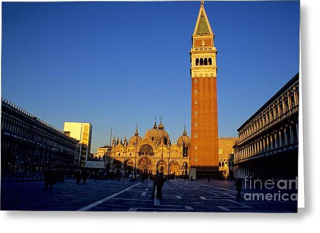 St Marks In Venice In Afternoon Sun Greeting Card by Michael Henderson