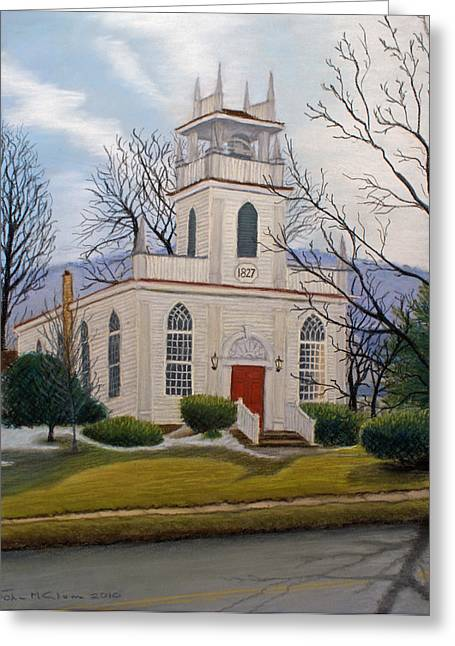 Pa Pastels Greeting Cards - St. Marks  Greeting Card by John Clum