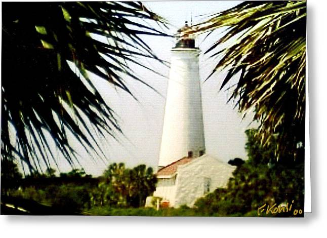 St Marks Lighthouse Greeting Card by Frederic Kohli