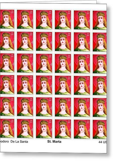 St Marta 36 Postage Stamps Greeting Card by Teodoro De La Santa