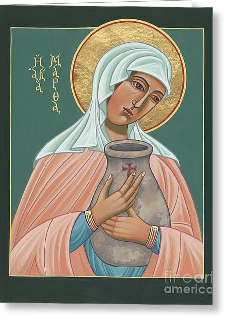 Greeting Card featuring the painting St Martha Of Bethany  by William Hart McNichols