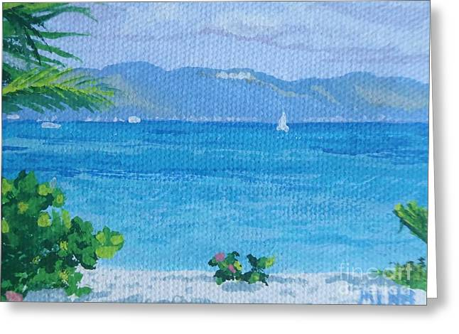 St Martin From Anguilla Greeting Card
