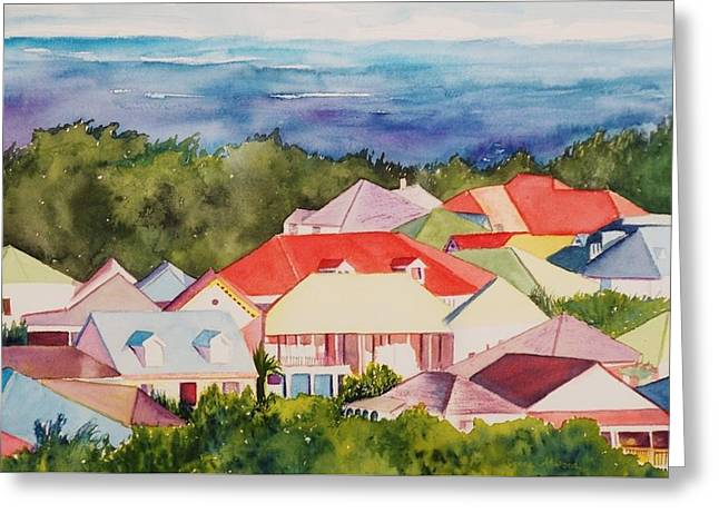 St. Martin Rooftops Greeting Card