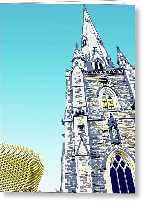 St Martins And Selfridges Greeting Card