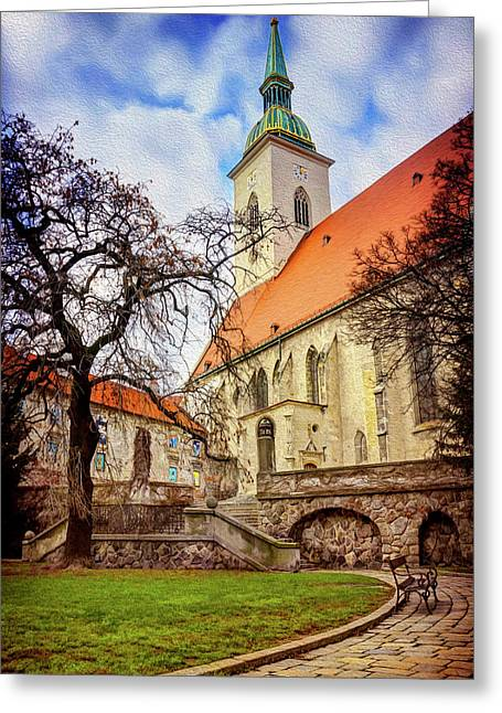 St Martins Cathedral Bratislava Greeting Card