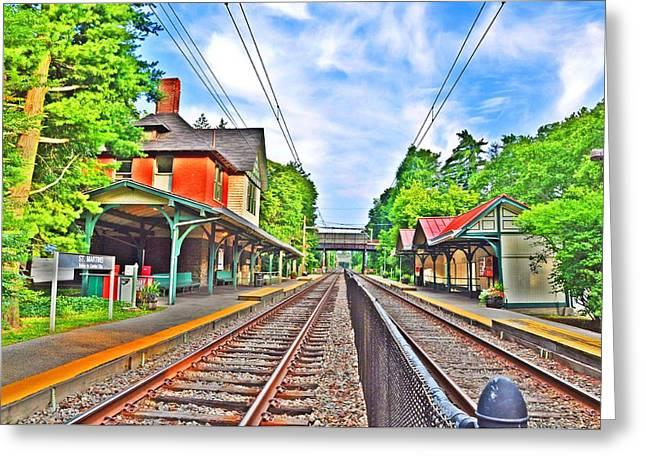 St. Martins Train Station Greeting Card