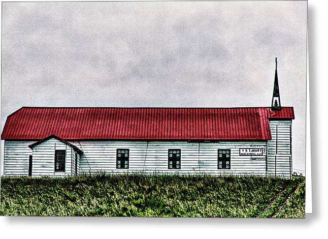 Greeting Card featuring the photograph St. Mary Church, Babb, Mt by Joe Paul