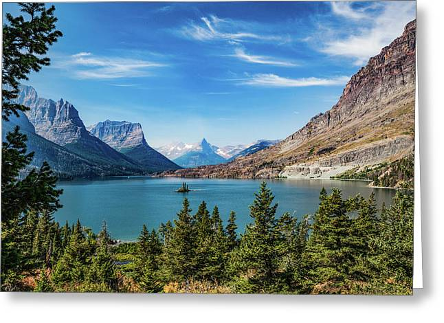 Greeting Card featuring the photograph St. Mary Lake, Glacier N.p. by Lon Dittrick