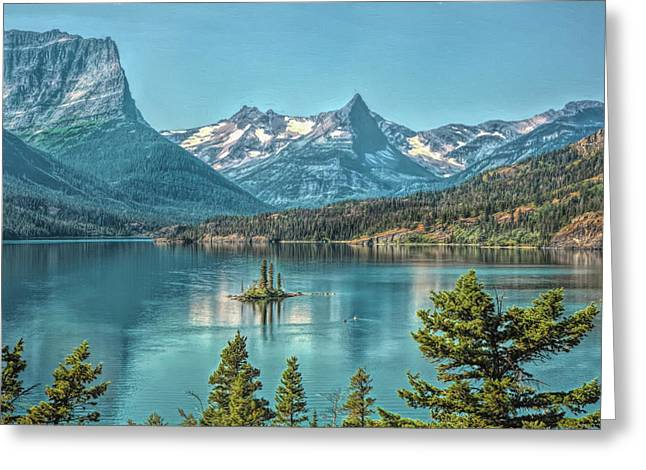 St Mary Lake Greeting Card