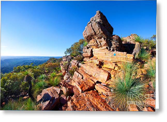 St Mary Peak Wilpena Pound Greeting Card