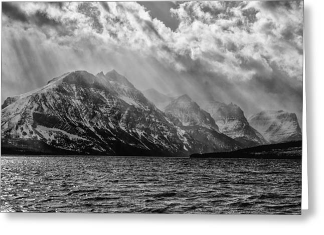 St Mary Storm, Glacier National Park  Greeting Card
