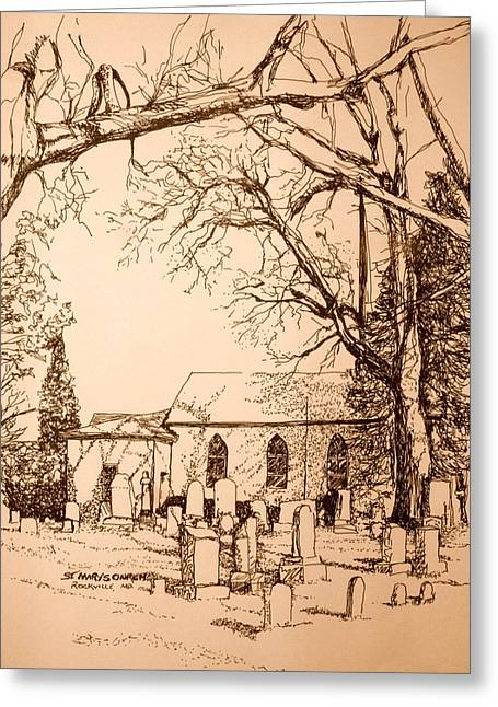 St Mary's Cemetery Greeting Card by George Lucas