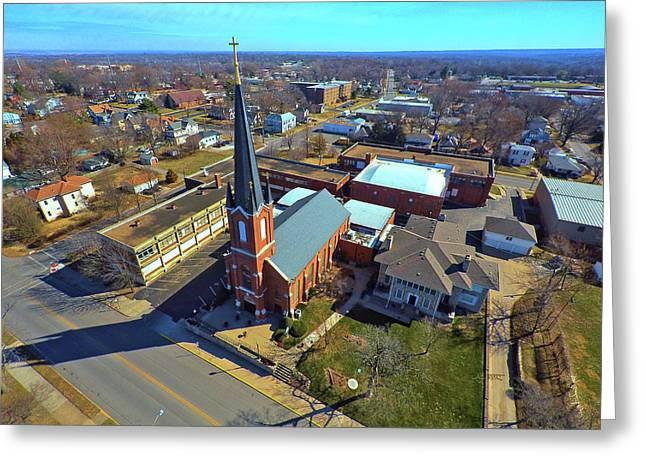 St. Marys Greeting Card by Dave Luebbert