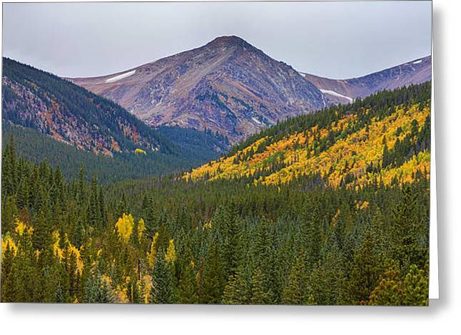 St Mary's Glacier Area Autumn Panorama Greeting Card