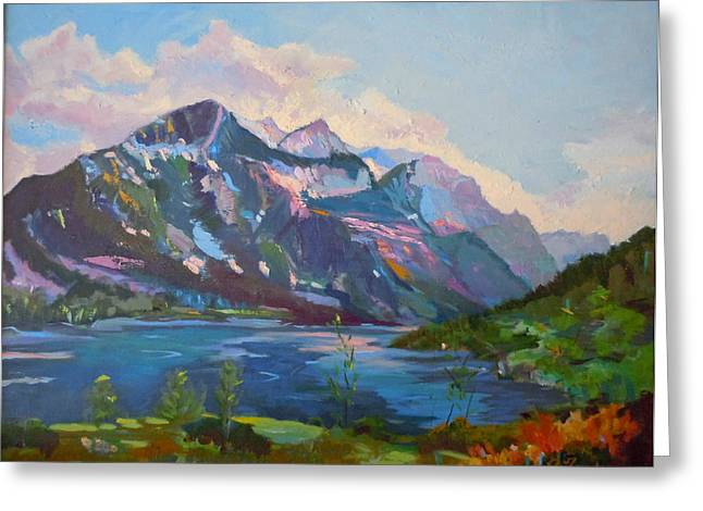 St. Marys Lake Glacier National Park Greeting Card by Francine Frank