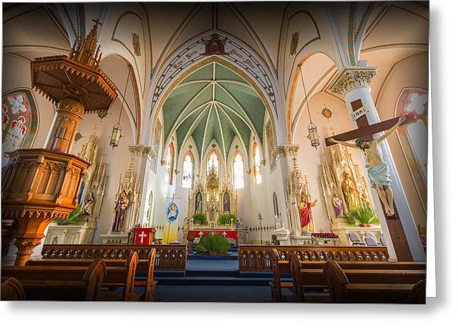 St Mary's Sanctuary Greeting Card by Stephen Stookey