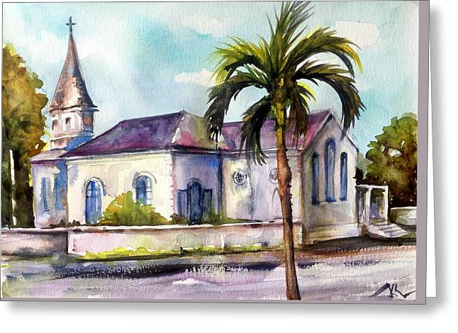 St. Matthews Church, Nassau Greeting Card